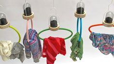 Bye Bye Laundry by Lisa Marie Bengtsson by Dezeen. These clothes hangers by product designer and recent graduate Lisa Marie Bengtsson are attached to chambers of porous charcoal that soak up bad smells.