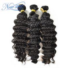ホット販売新しいスター毛ブラジル深い波バージンヘアエクステンション3ピース/ロットつのドナー未処理の高品質人間の髪