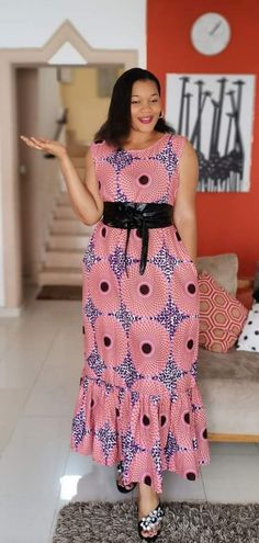 African Dresses For Kids, African Maxi Dresses, Latest African Fashion Dresses, African Print Fashion, African Attire, Lace Gown Styles, African Print Skirt, Patterned Dress, Dressy Outfits