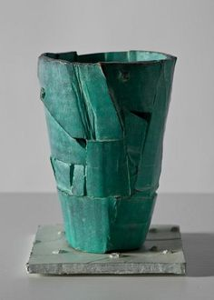 Ricky Swallow ~ Field Cup (Turquoise) 2010 patinated bronze via rickyswallow.com