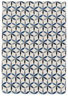 STARFLOWER BLUE  EDWARD BARBER & JAY OSGERBY  Designer Collection  Wool Rugs