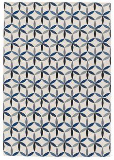 STARFLOWER BLUE  EDWARD BARBER & JAY OSGERBY  Designer Collection  Wool Rugs