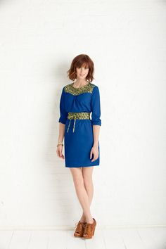 Itinerary Dress (really loose with contrasting obi wrap)