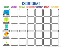 """We are always looking for ways to give you more free stuff, so we made * 5 FREE Printable Chore Charts for Kids * you can easily download here. Do you """"like"""" them? Let us know!"""