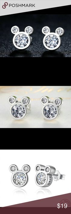 Mickey Mouse Disney stud earrings sterling silver Mickey Mouse Disney stud earrings sterling silver. Gorgeous. Good for women and children. Accessories Jewelry