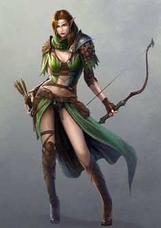 f Elf Ranger longbow