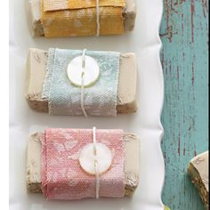 Homemade soap as gifts packaging idea