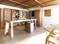 eiche aufrecht mit d nner platte bulthaup k che. Black Bedroom Furniture Sets. Home Design Ideas