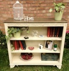 Fantastic shabby chic bookcase solid oak