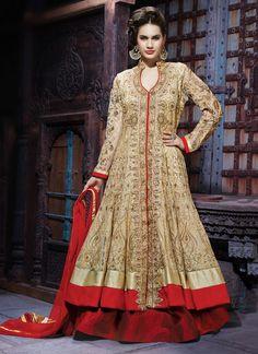 Snazzy Embroidered and Zari Work A Line Lehenga Choli | Wedding Lehenga Choli | Bridal Lehenga Choli | Designer Lehenga Choli | Item Code: 3717