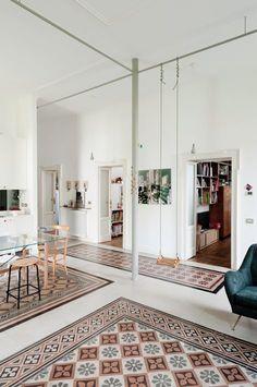 + Giulio Cesare, Milan, 2010 - Elena e Francesco Colorni Architetti That swing Architecture Magazines, Interior Architecture, Home Living, Living Spaces, Floor Design, House Design, Indoor Swing, Best Flooring, Interior Decorating