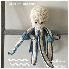 Otto de Octopus handmade by juf Sas met gratis haakpatroon Otto de octopus handmade by juf Sas met gratis patroon Crochet For Kids, Diy Crochet, Crochet Toys, Crochet Baby, Elephant Applique, Crochet Elephant, Cute Baby Gifts, Crochet Slippers, Animal Tattoos
