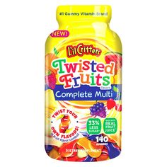 L'il Critters Multivitamin Dietary Supplement Gummies - Twisted Fruits - 140ct