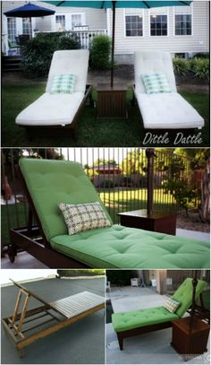 Pottery Barn Inspired Lounge - 5 Elegant #Sunbathing #Loungers You Can #DIY – FREE Plans - http://www.diyncrafts.com/18597/home/5-amazingly-simple-diy-sunbathing-loungers