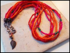 Sugar Punch  Glass Beads and Pyrite Gemstones Wire by SpiritIndigo, $36.92
