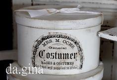 Schachteln - Shabby Chic ♦ HUTSCHACHTEL in weiß ♦ - ein Designerstück von da-gina bei DaWanda