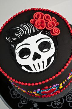 Day of the Dead (Dia de los muertos) cake