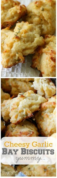 Easy Cheesy Garlic Bay Biscuits copycat Red Lobster inspired using bisquick and ghee recipe- SWEET HAUTE Pin now...make later!