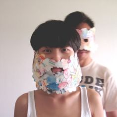 """This is a """"recycling"""" project this illustrator created using her unwanted drawings. Making your own Mask and Beard!"""
