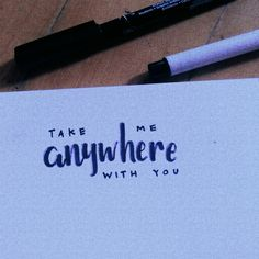 simple lettering — for u❤