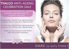 Thalgo Anti-Ageing Anniversary Promotion Anti Aging Facial, Ageing, Promotion, Anniversary, Skin Care, Celebrities, Coming Of Age, Skincare Routine, Celebs