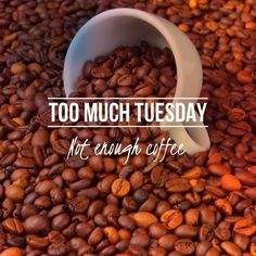 Too much Tuesday. Not enough coffee #tuesday tuesday quotes coffee coffee beans