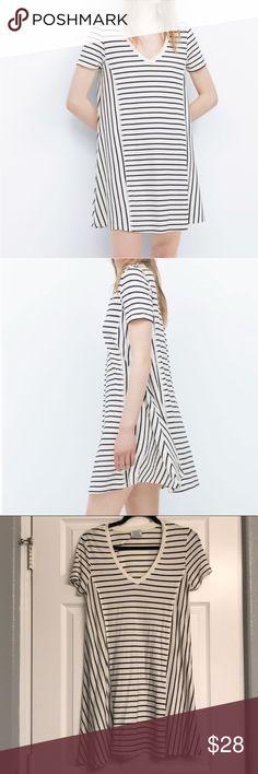striped dress • zara so flattering and perfect to throw on Zara Dresses