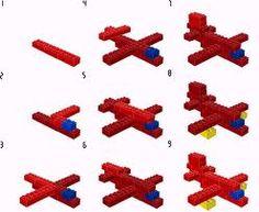 Lego vliegtuig: stappenplan