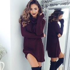 Cute and cozy in our fave 'Below Zero' knit dress ✔️ Shop it now via the link in our bio ☝️ #showpo