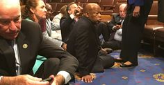 House Democrats' Gun-Control Sit-In Turns Into Chaotic Showdown With Republicans - The New York Times