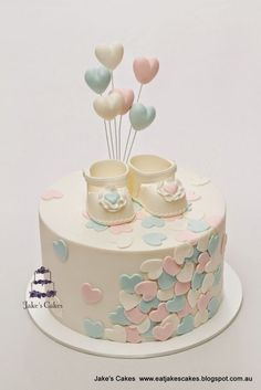Jake's Cakes: Loveheart Baby Shower Cake