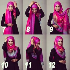 Want to know how to wear hijab arab style. Then, here are the 9 best arabic hijab styles for women step by step to make you wonder at the elegance. Muslim Hijab, Muslim Dress, Islamic Fashion, Muslim Fashion, Beau Hijab, How To Wear Hijab, Hijab Style Tutorial, Simple Hijab, Stylish Hijab