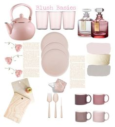 """""""Blush Basics"""" by felicitysparks ❤ liked on Polyvore featuring interior, interiors, interior design, home, home decor, interior decorating, DENY Designs, CB2, Waterford and Jansen+Co"""