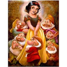 A few weeks back, I shared with you The Art of Randy Noble. This month I wanted to introduce you to another talented Disney artist, Darren Wilson. Like Randy, Darren has a true passion for all things Disney. Darren's love for Disney started at Disney Cartoon Characters, Disney Films, Disney Cartoons, Disney Princess Snow White, Snow White Disney, Snow White Art, Walt Disney, Disney Magic, Disney Parks