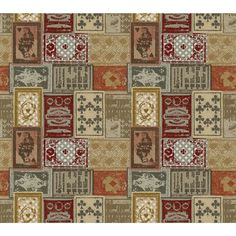 "American Eclectic Patchwork 27' x 27"" Wallpaper"