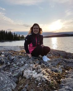 Enjoying the coast in a cool pink and black Helly jacket.  Sunset is fantastic.  Photo from @ veronicalindkviist Instagram