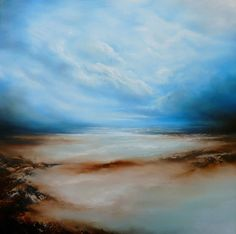 Large Canvas Abstracted Seascape Painting by SimonkennysPaintings