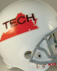 Remember this throwback Hokie helmet?
