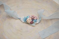 Newborn Headband, Baby Tieback, Newborn Photo Prop, New Born Props, Flower Headband, Newborn Tieback, Lace Headband, Lace Headpiece, Props by LovelyBabyPhotoProps on Etsy
