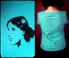"""""""Virginia"""" front and back 100% cotton Size L (woman) Colour: turquoise NO STENCIL"""