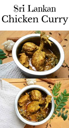 If you haven't had the Sri Lankan chicken curry, you haven't had chicken at all! Try this deliciously creamy chicken curry loaded with spices and coconutty goodness!