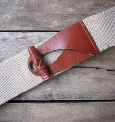 vintage 1980s cinch belt with leather toggle by MouseTrapVintage, $28.00