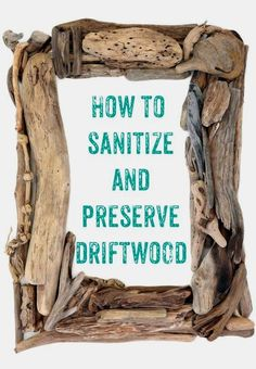 How to clean driftwood - definitely using this one for all the pieces I've been hoarding to make that wreath! beach crafts Driftwood cleaning and sanitizing method Seashell Crafts, Beach Crafts, Diy Crafts, Beach Themed Crafts, Sea Glass Crafts, Summer Crafts, Driftwood Projects, Driftwood Art, Aquarium Driftwood