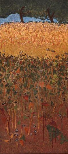 Paul Serusier, Le champ de blé d'or et sarrasin on ArtStack #paul-serusier #art