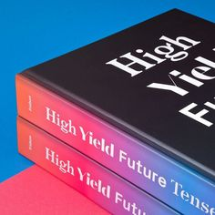 #EddieOpara and his team have designed HIGH YIELD FUTURE TENSE the debut book from @nyssaorg. The design breaks from the traditionally conservative style of financial publications to capture the power and excitement of the field. #color #typography #bookdesign #highyieldfuturetense #investing #finance by pentagramdesign