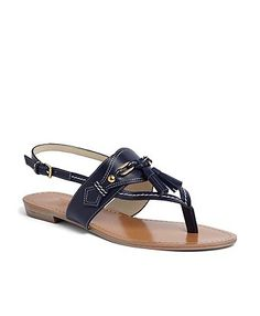 It's so hard to find a good NAVY sandal! Early B-day present. Brooks Brothers