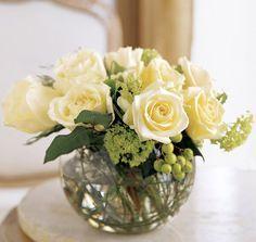 arreglos con rosas blancas pecera - Buscar con Google