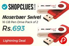 Shopclues is offering 17% off on Moserbaer Swivel 16 GB Pen Drive Pack of 2 at Rs.693 Only. Its Data transfer rate is compliant to USB 2.0 specification. It is conveniently portable and process of transfer and storage easy and quick.  http://www.paisebachaoindia.com/moserbaer-swivel-16-gb-pen-drive-pack-of-2-at-rs-693-only-shopclues/