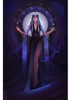 Asteria ~ Greek Mythology by Yliade on DeviantArt Greek Mythology Gods, Greek Gods And Goddesses, Roman Mythology, Greek Goddess Art, Moon Goddess, Lore Olympus, Witch Art, Egyptian Art, Mythical Creatures