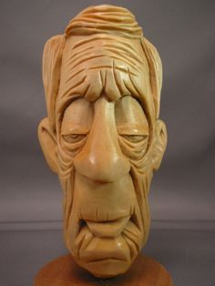 Lou by *StudioJsculpts    Wooden sculpture - wonderful face